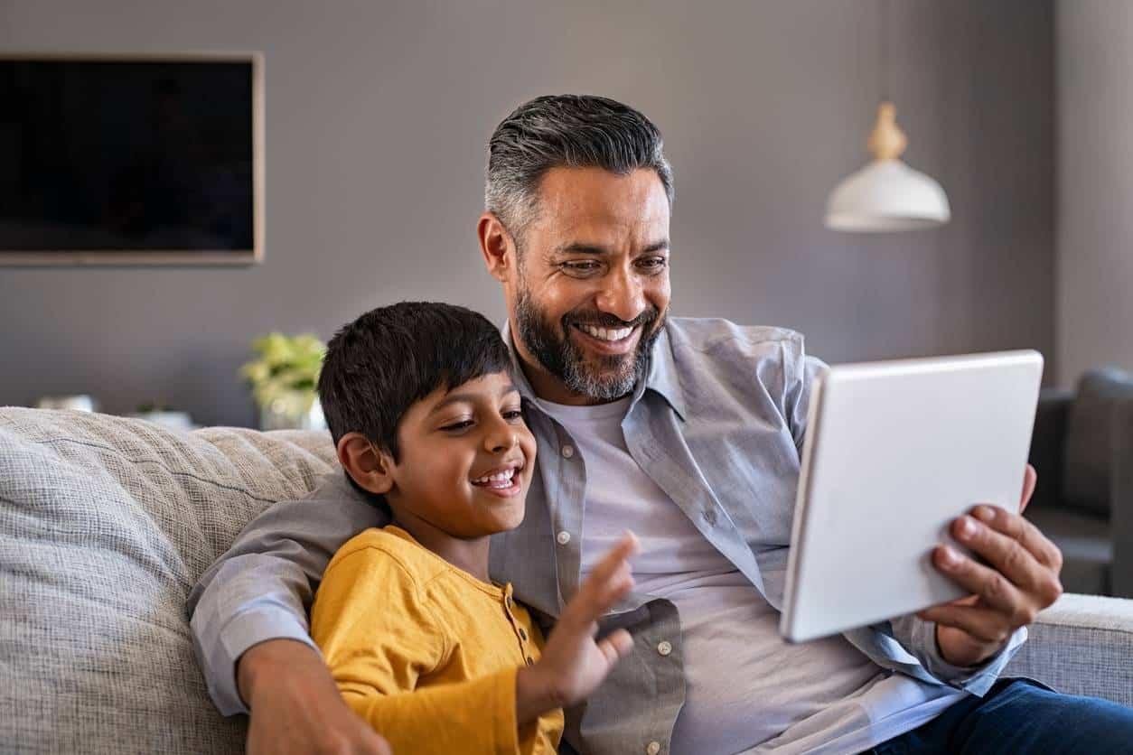 Communication virtuelle enfant